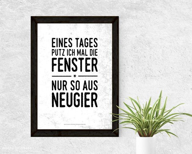 Typo Kunstdruck für die Wohnung, Putzen, Haushaltstipps, Wohndeko / poster for cleaning, funny quote made by mfM Kreativbutze via DaWanda.com