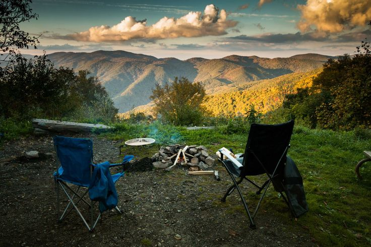 Camping at mile high campground in cherokee nc camp fire