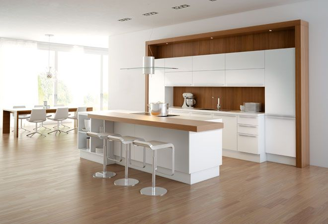 White Gloss Kitchen found in ekbb magazine.