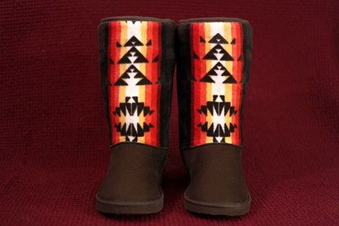 Women's Size 9 Chocolate Boots w/ the Chocolate Native American Print – Charm's Native Boots: http://www.charmsnativeboots.com/products/womens-chocolate-fashion-boots-with-the-chocolate-native-american-print - First Nations, American Indian, Indigenous, Powwow, Pow wow, Powwow Life, Aboriginal, Comanche, Pawnee, Seminole