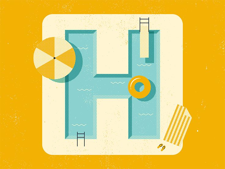 Summer Pool http://drbl.in/pCpT #digitalart #graphicdesign #illustration…