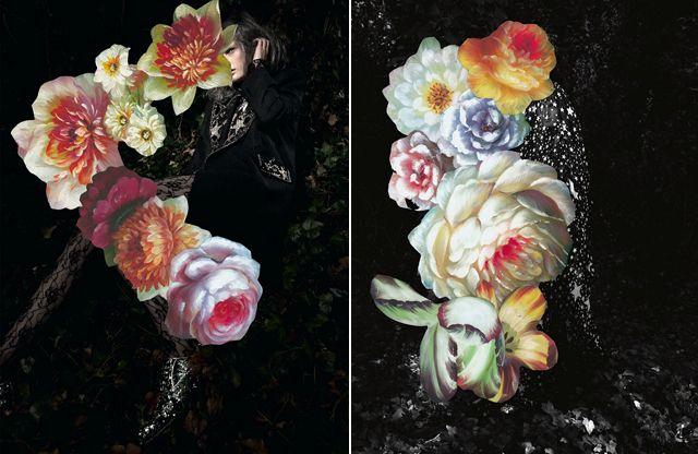 Love love love. Flowers over portraiture.: Photo Flowers, Fashion Flowers