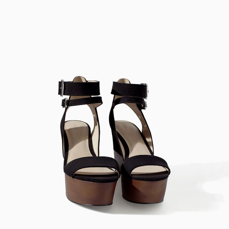 COMBINED WEDGE - Shoes - TRF - SALE | ZARA Canada Ref. 3518/301 79.90 CAD UPPER 100% POLYESTER LINING 100% POLYURETHANE SOLE 100% VULCANIZED RUBBER