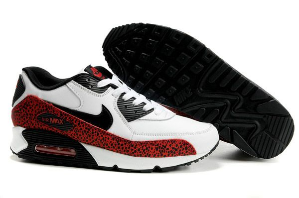 302519 103 Nike Air Max 90 Leather White Black Varsity Red AMFM0660