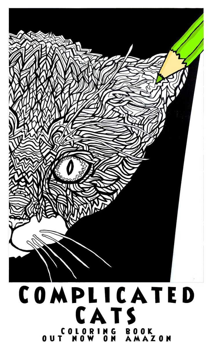 88 Best Plicated Cats A Fiddly Feline Coloring Book Images On