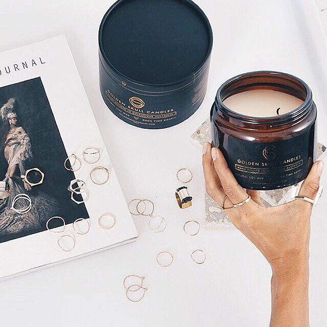 Beauty in desgin.  #candle #candles #soywaxcandles #marble #luxury #gsc #golden #skull #goldenskullcandles #interiors #style #packaging #foil #rings #jewellery #melbourne #made #australia