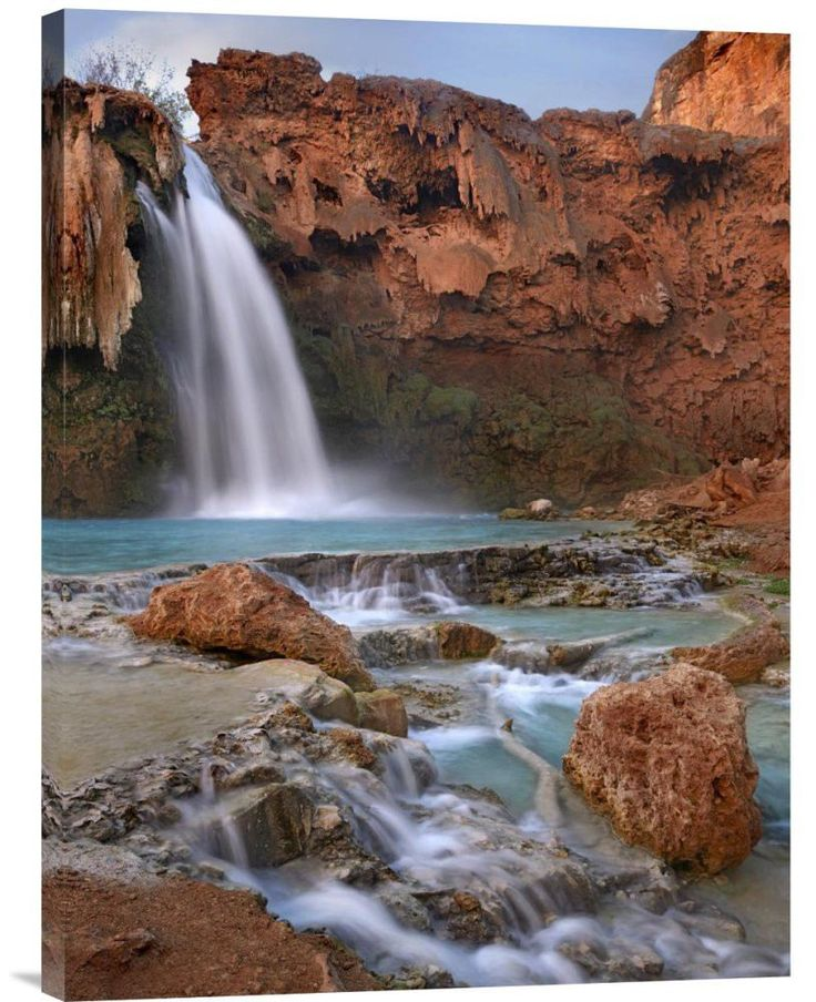 Buy Feng Shui vertical fine art photo Havasu Falls, Grand Canyon, Arizona by Tim Fitzharris, which is available for sale in our fine art mountains photos collection. This positive energy ready-to-hang