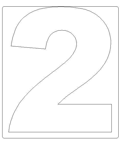 Numeros del 0 al 9 en grande para usar como moldes - Imagui
