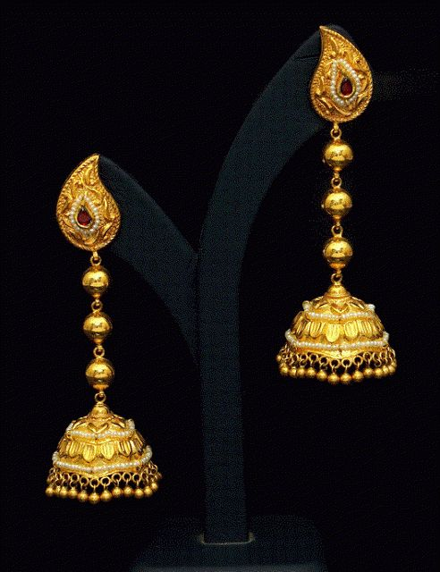 Gold Earrings latest jewelry designs - Page 8 of 13 - Jewellery Designs