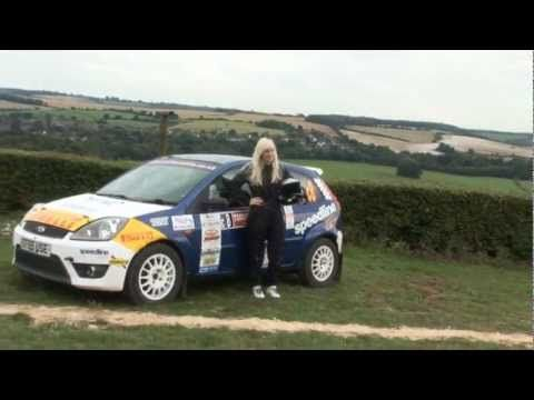 Louise Cook British Female Rally Driver on the road to the World Rally C...