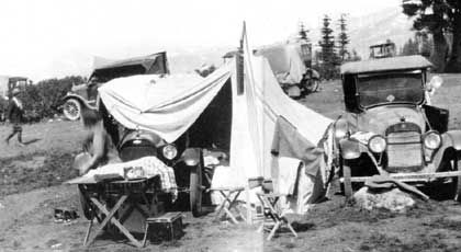 I read so many 1920's and 30's diaries that talk about Auto Camps. Such a great way to camp.