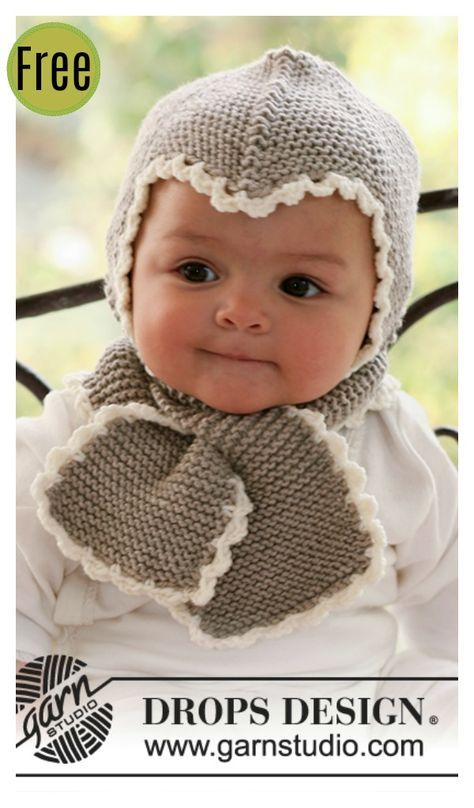 Baby Hat and Scarf All in One Free Knitting Pattern  53e53b949b9