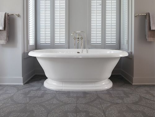 Kohler Vintage Bath In Grey Country Bathroom. I Like That It Is In An  Alcove Space. I Have A A Space Like This, Iu0027d Love To Put This Tub There!