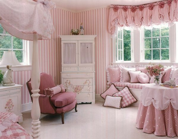 chambre toute rose | chambre de type Barbie