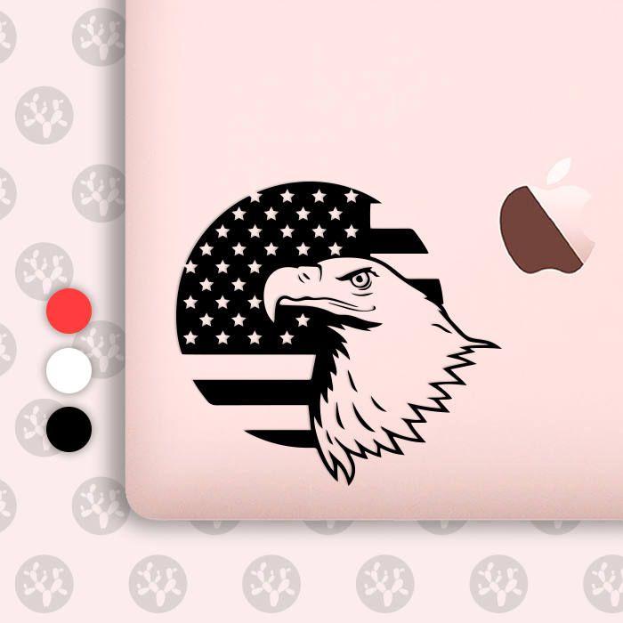 american eagle, eagle decal, patriotic decal, american flag decal, usa eagle sticker, patriotic eagle, usa flag decals, eagle flag by CactusDesignsCo on Etsy