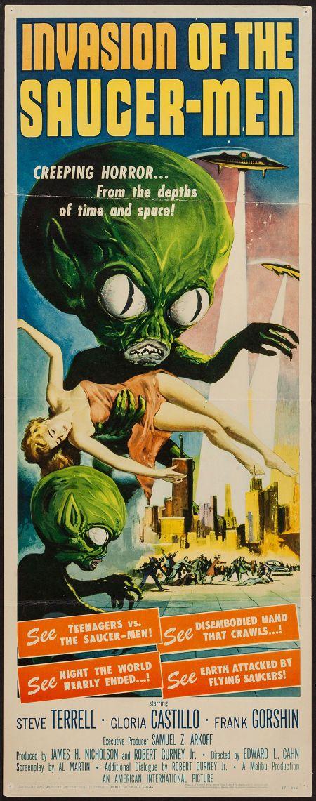 "Invasion of the Saucer-Men (American International, 1957). Insert(14"" X 36""). #heritageauction"