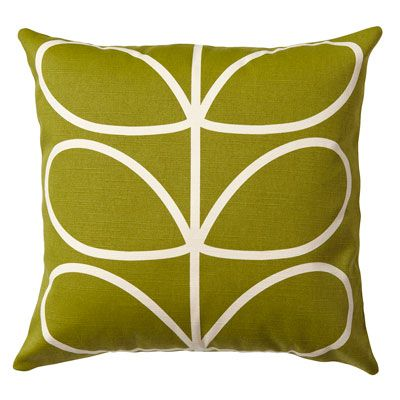 Orla Kiely | USA | House | Living | Linear Stem Cushion (0CUSLST651) | Apple