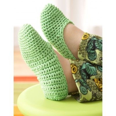 Easy Family Slippers | Yarnspirations | Free Pattern | Crochet