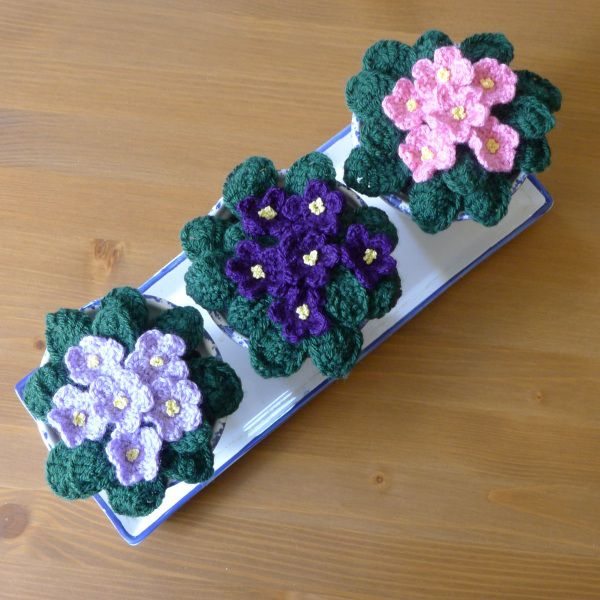 Crochet Violet Flower Pattern : 26 best images about Knit/Crochet: Flora, For Home on ...