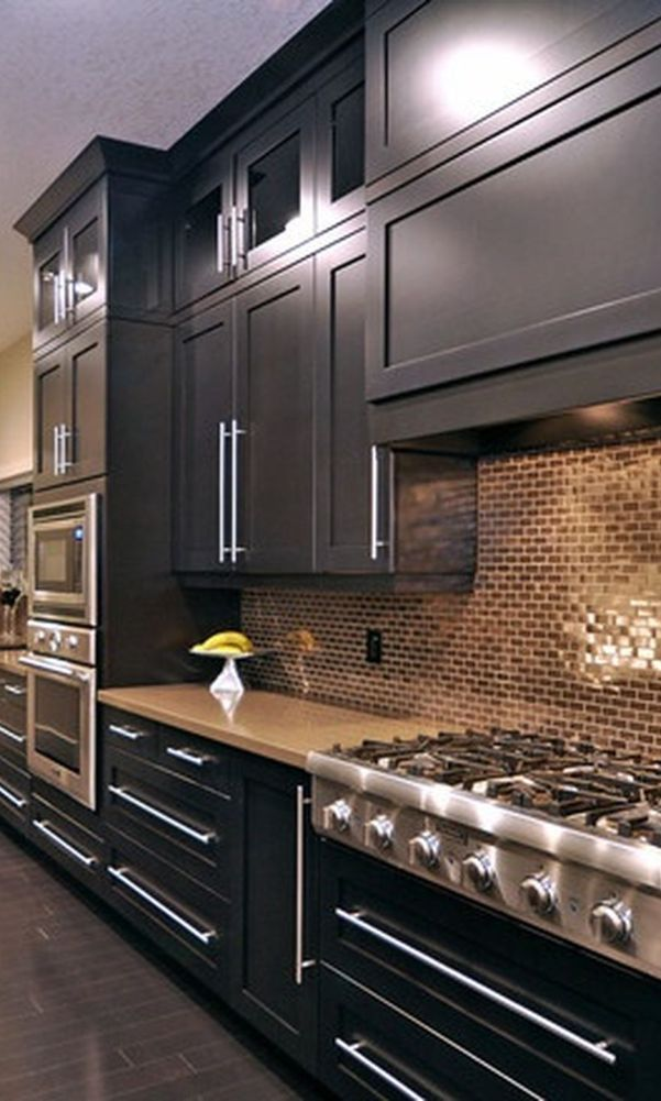 56 Black Kitchen Cabinet Ideas For Stylish Cooks 2020 Part 26 Black Kitchens Black Kitchen Cabinets Kitchen Interior