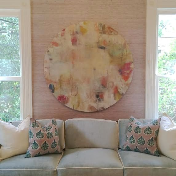 Blue couch with white trim pink textured wallpaper artwork by blue couch with white trim pink textured wallpaper artwork by cathy lancaster blue print blueprintstore blue print artists pinterest malvernweather Images