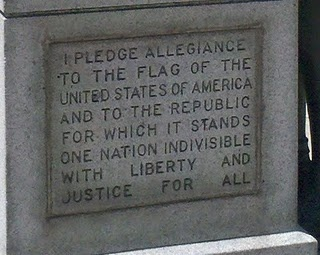 "The original Pledge of Allegiance. I remember when they added ""under God"" it was so weird and I was only a 4th grader and thought so!!"
