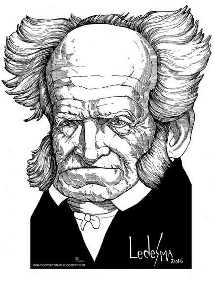 Shopenhauer, tinta sobre papel, 2016.