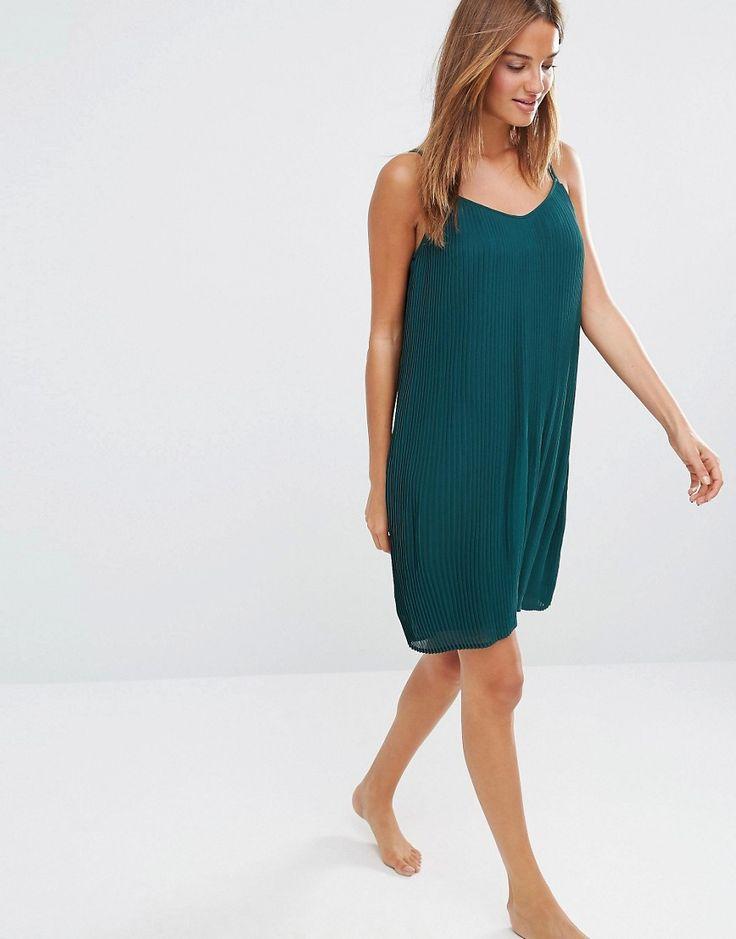 Image 4 ofOysho Pleated Swing Beach Dress