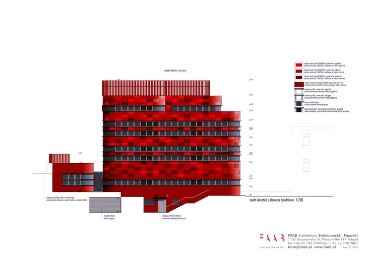 south elevation / new construction and renovation of the Raciborz Regional Blood Center in Raciborz, PL © FAAB Architektura