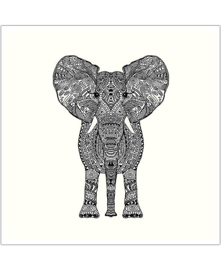 Aztec Elephant of Monika Strigel now on JUNIQE!