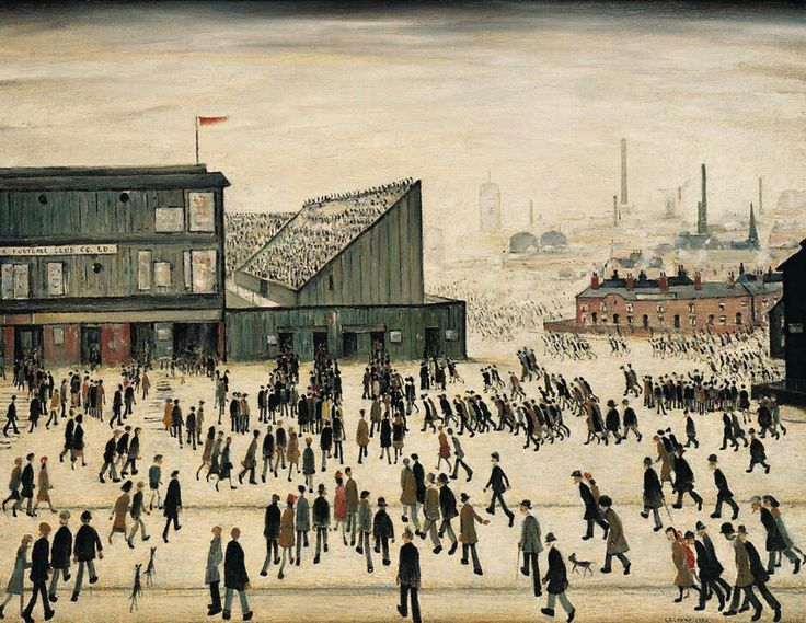 L.S. Lowry: Going to the Match (1928)