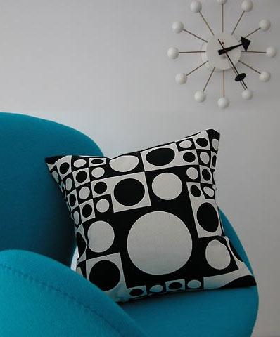 "Verner Pantone, ""geometri,"" throw pillow.  $129.00, by maharam."