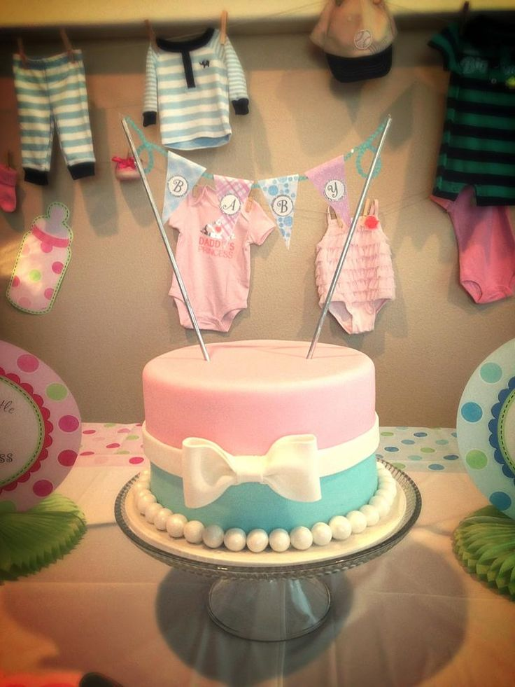 Gender Reveal Party Cake, due to the toll this pregnancy is taking on me, we might be going the easier route with our gender reveal party & just do dinner followed by the big reveal with a cake ;)