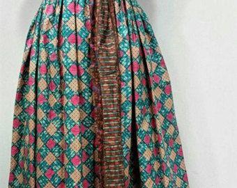 25% OFF LINDA Dress African print Flare Dress Midi by JENNYROSSY