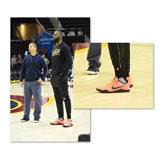 LeBron James Wearing Kobes - Guillermo  The picture below shows LeBron James wearing Kobe's Mango 11 lows. Scroll to the end of this article to see Guillermo vs LeBron James at the 2017 NBA Media Day. LeBron and the Cleveland Cavaliers are attempting to win their second NBA Championship but it won't be easy. The Golden State Warriors don't miss many shots.  LeBron may have to pull a Kobe if he wants to bring a second championship to Cleveland. James is a pass-first player. Many have tried to…