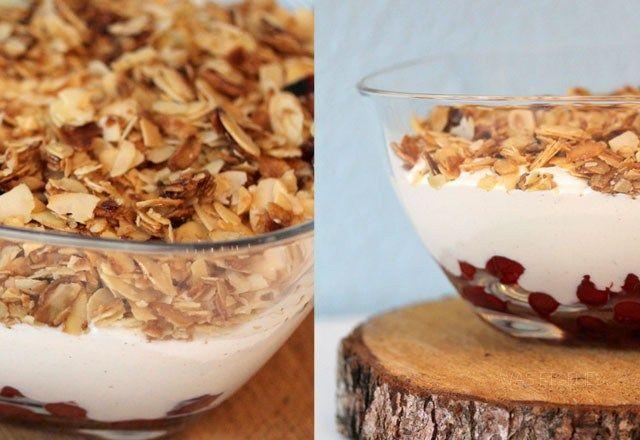 Kirsch Mandel Dessert mit gebrannten Mandeln   Rezept   waseigenes.com Blog