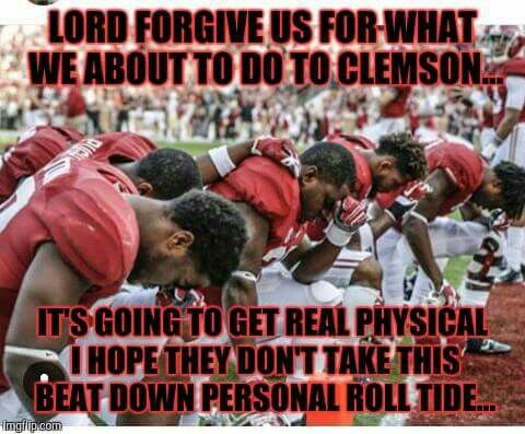 Alabama Football verses Clemson