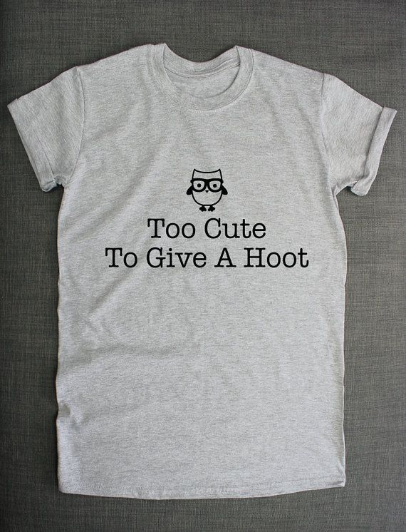 Too Cute To Give A Hoot Owl T-Shirt by ResilienceStreetwear