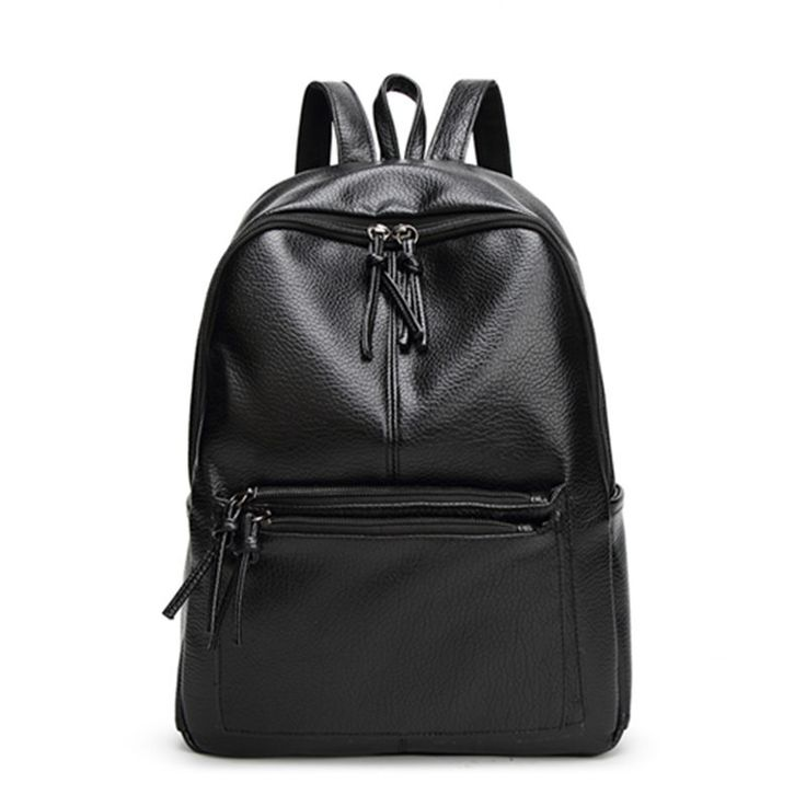 New Travel Backpack Korean Women Backpack Leisure Student Schoolbag Soft PU Leather Women Bag *** See this great product.