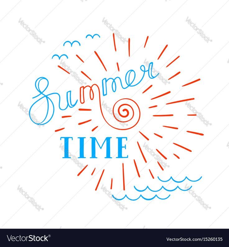 Summer time lettering logo. Hand drawn typographic design. Vector illustration. Download a Free Preview or High Quality Adobe Illustrator Ai, EPS, PDF and High Resolution JPEG versions.