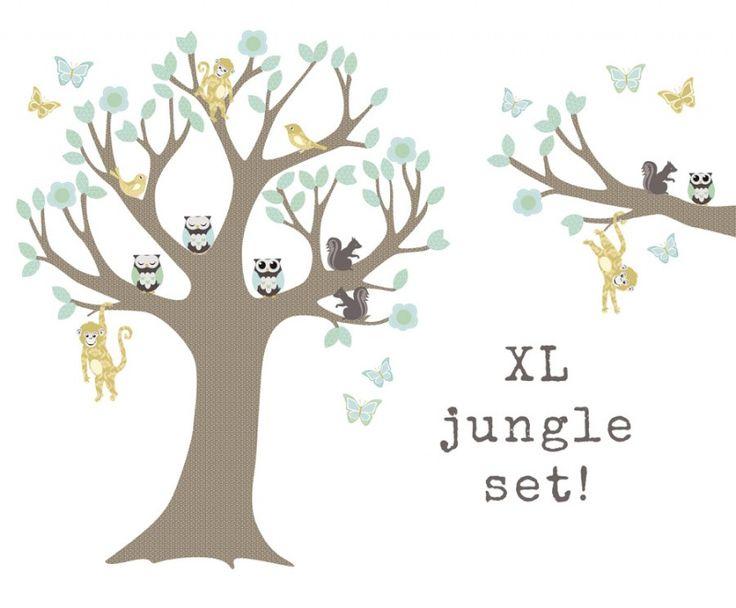 Muursticker Jungleboom XXLboys