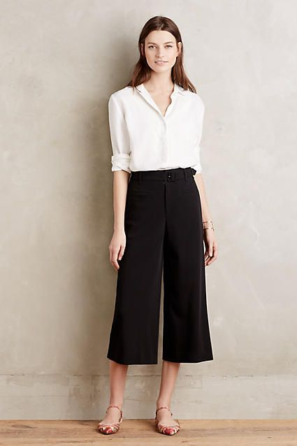 Love to try some high-waisted culottes. The shirt is not for me thought.