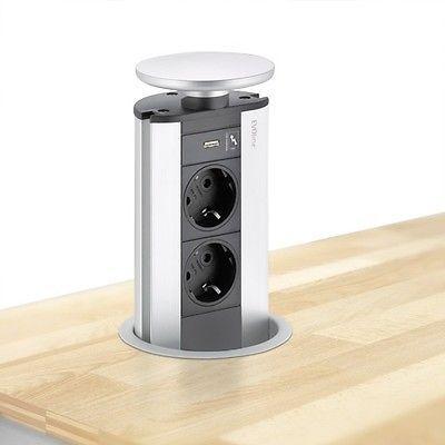 EVOLINE Port mit USB Charger - die versenkbare Energiebox mit 2 Steckdosen und L in Heimwerker, Elektromaterial, Steckdosen | eBay