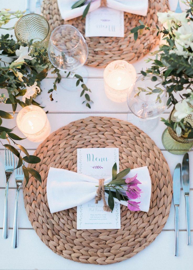 Natural place setting