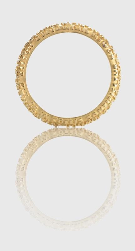 La Fede in oro giallo    Wedding ring, yellow gold   - www.tuum.it -