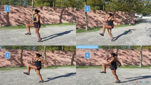 Exercícios dinâmicos de arrefecimento para corredores - Corre Salta e Lança