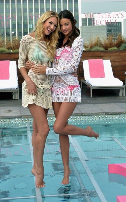 Miranda Kerr with Candice Swanepoel
