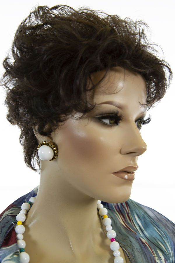 Premium Quality Classic Hairstyle Petite Cap Short Blonde Brunette Red Wavy Wigs | eBay ...