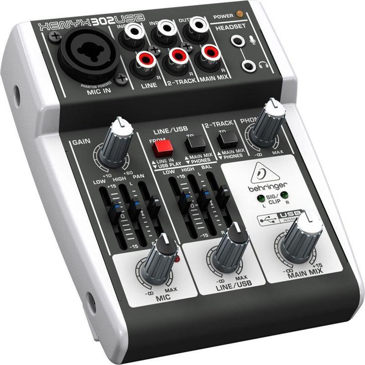Consola XENYX-302USB, Behringer tan solo $165.000.