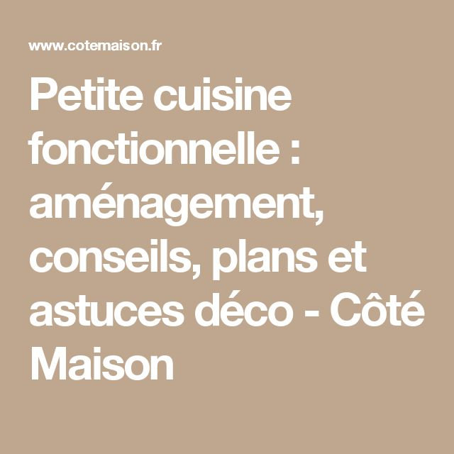 1000 ideas about petite cuisine on pinterest kitchens for Petite cuisine fonctionnelle
